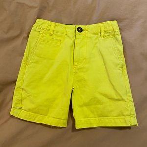 Mini Boden yellow shorts